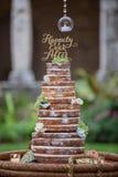 Bolo de casamento estratificado Imagem de Stock Royalty Free