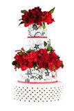 Bolo de casamento isolado no fundo branco Fotos de Stock