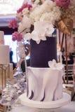 Bolo de casamento luxuoso Imagem de Stock Royalty Free