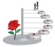 Bolo de casamento para pares Imagem de Stock Royalty Free
