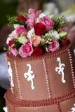 Bolo de casamento - série do casamento Fotografia de Stock