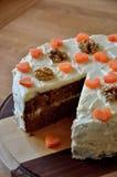 Bolo de cenoura livre do açúcar com wallnuts Fotografia de Stock