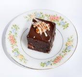 Bolo de chocolate fotografia de stock royalty free