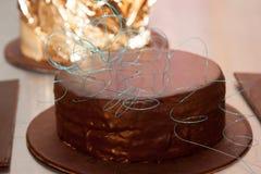 Bolo de chocolate Foto de Stock Royalty Free