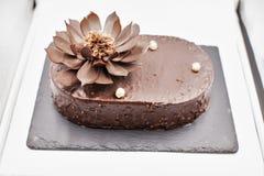 Bolo de chocolate Imagem de Stock Royalty Free