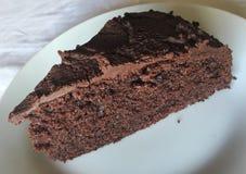 Bolo de chocolate - brownie Foto de Stock Royalty Free