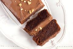 Bolo de chocolate caseiro foto de stock royalty free