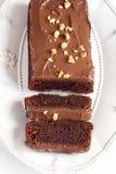 Bolo de chocolate caseiro fotos de stock