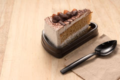 Bolo de chocolate com amêndoa Fotos de Stock Royalty Free