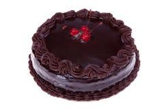 Bolo de chocolate com cerejas foto de stock royalty free
