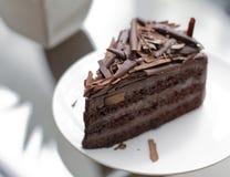 Bolo de chocolate da brownie Imagens de Stock Royalty Free