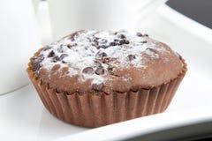 Bolo de chocolate das brownies Imagens de Stock Royalty Free