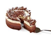 Bolo de chocolate de creme imagens de stock