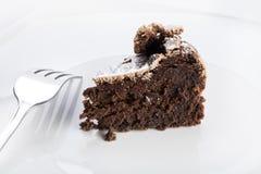 Bolo de chocolate de Flourless Imagens de Stock