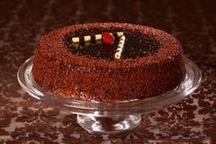 Bolo de chocolate delicioso Imagens de Stock