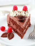 Bolo de chocolate delicioso Foto de Stock