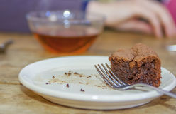 Bolo de chocolate delicioso Fotografia de Stock