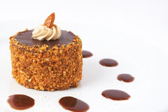 Bolo de chocolate diminuto Imagem de Stock