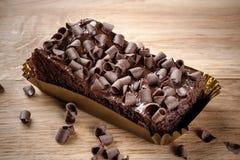 Bolo de chocolate do abobrinha Imagem de Stock Royalty Free