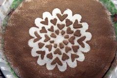 Bolo de chocolate doce Fotografia de Stock Royalty Free