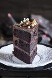 Bolo de chocolate extra Imagens de Stock