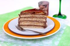 Bolo de chocolate húngaro Imagens de Stock Royalty Free