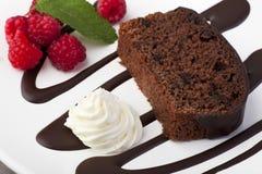 Bolo de chocolate II Fotos de Stock Royalty Free