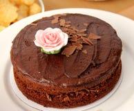 Bolo de chocolate rico Fotografia de Stock