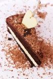 Bolo de chocolate romântico Fotografia de Stock Royalty Free