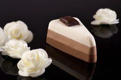 Bolo de chocolate três Imagem de Stock