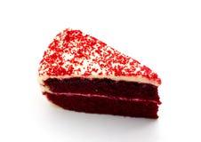 Bolo de chocolate vermelho de veludo Foto de Stock Royalty Free