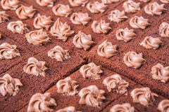 Bolo de chocolate VIII Fotos de Stock Royalty Free