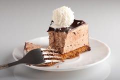 Bolo de chocolate Yummy Fotos de Stock Royalty Free