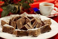 Bolo de Chokolate Fotografia de Stock