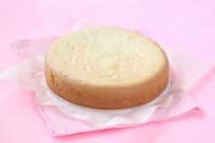 Bolo de esponja do biscoito Imagem de Stock