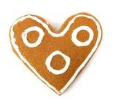 Bolo de esponja Heart-shaped fotos de stock