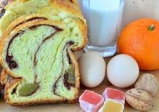 bolo de esponja tradicional romeno Imagens de Stock