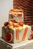 Bolo de Halloween Fotografia de Stock
