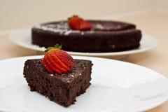 Bolo de lama do chocolate imagens de stock royalty free