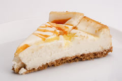 Bolo de queijo Fotografia de Stock