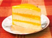 Bolo de queijo alaranjado Imagens de Stock Royalty Free