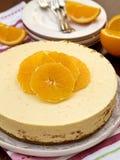 Bolo de queijo alaranjado Imagem de Stock