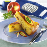 Bolo de queijo da casa de campo Imagens de Stock Royalty Free