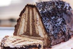Bolo de queijo do biscoito Fotos de Stock Royalty Free