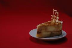 Bolo de queijo do caramelo Fotos de Stock