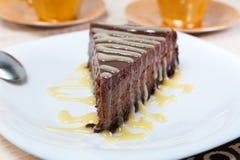 Bolo de queijo do chocolate Fotografia de Stock