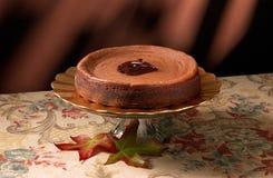 Bolo de queijo do chocolate Imagens de Stock Royalty Free