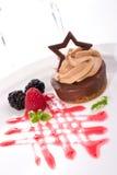 Bolo de queijo do chocolate Imagem de Stock