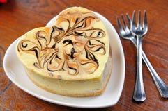 Bolo de queijo do Tiramisu Fotografia de Stock