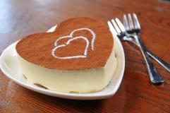 Bolo de queijo do Tiramisu Imagem de Stock Royalty Free